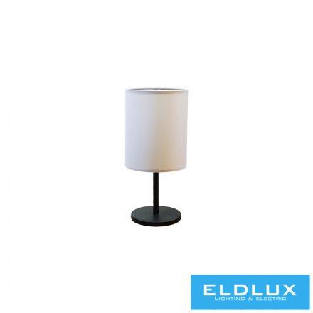 Asztali Lámpa Fekete kör alap Szürke TC egyenes Lámpaernyővel E14