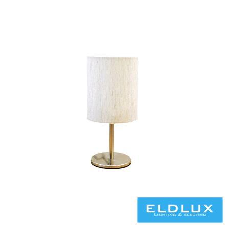 Asztali Lámpa Nikkel kör alap V-Szürke TC egyenes Lámpaernyővel E14