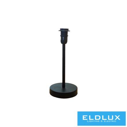 Fekete kör alap asztali lámpatest E14