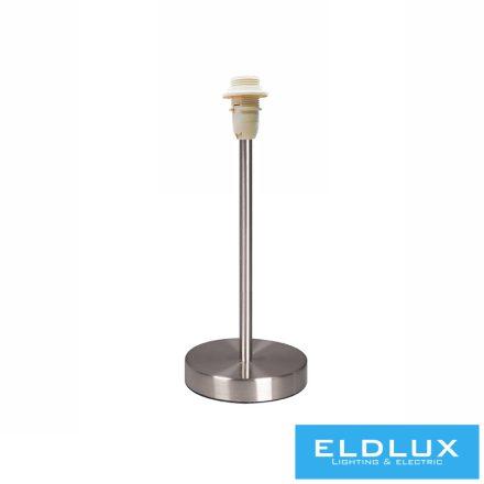 Nikkel kör alap asztali lámpatest E14