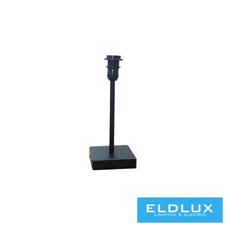 Fekete szögletes alap asztali lámpa E14