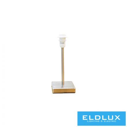 Nikkel szögletes alap asztali lámpa E14
