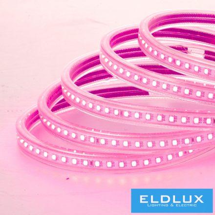 LED Szalag 230V 8mm 5050-60D Rózsaszín IP65