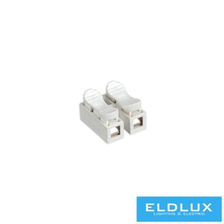 2-Pólusú kábel csatlakozó (rugós 2.5mm²) 15db/csomag