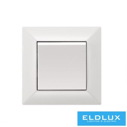 ELDGROUND Kereszt váltókapcsoló (107) Fehér