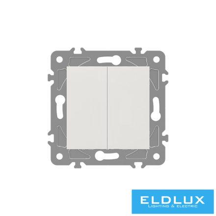 ELDGROUND Kettős váltókapcsoló (106+6) Fehér