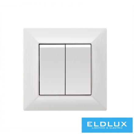 ELDGROUND Kettős váltókapcsoló (106+6) Fehér Rugós