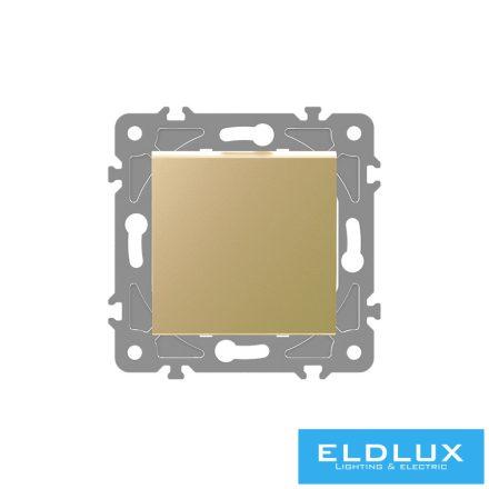 ELDGROUND Kétpólusú kapcsoló (102) Arany Rugós