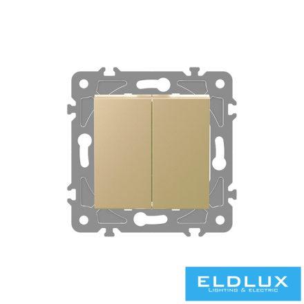 ELDGROUND Kettős váltókapcsoló (106+6) Arany Rugós