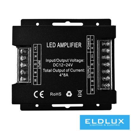 12V/24V-os RGB/RGBW LED szalag Jelerősitő 4×8A IP20