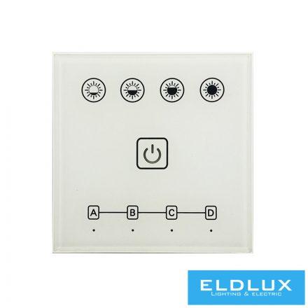 12V/24V-os LED szalag vezérlőhez(PS4210) fali táviránytó AC90-265V 2.4Ghz 4Zonás IP20