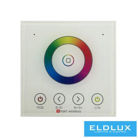 12V/24V-os CCT/RGBW LED Szalag vezérlőhez(PS4220) Fali Táviránytó AC90-265V 2.4Ghz 1Zonás IP20