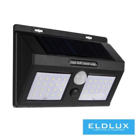 Solar mozgásérzékelős fali lámpa 4W 6500k IP65