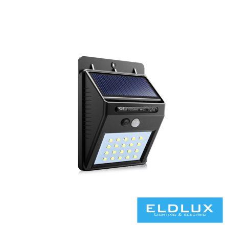 Solar mozgásérzékelős fali lámpa 2W 6500k IP65